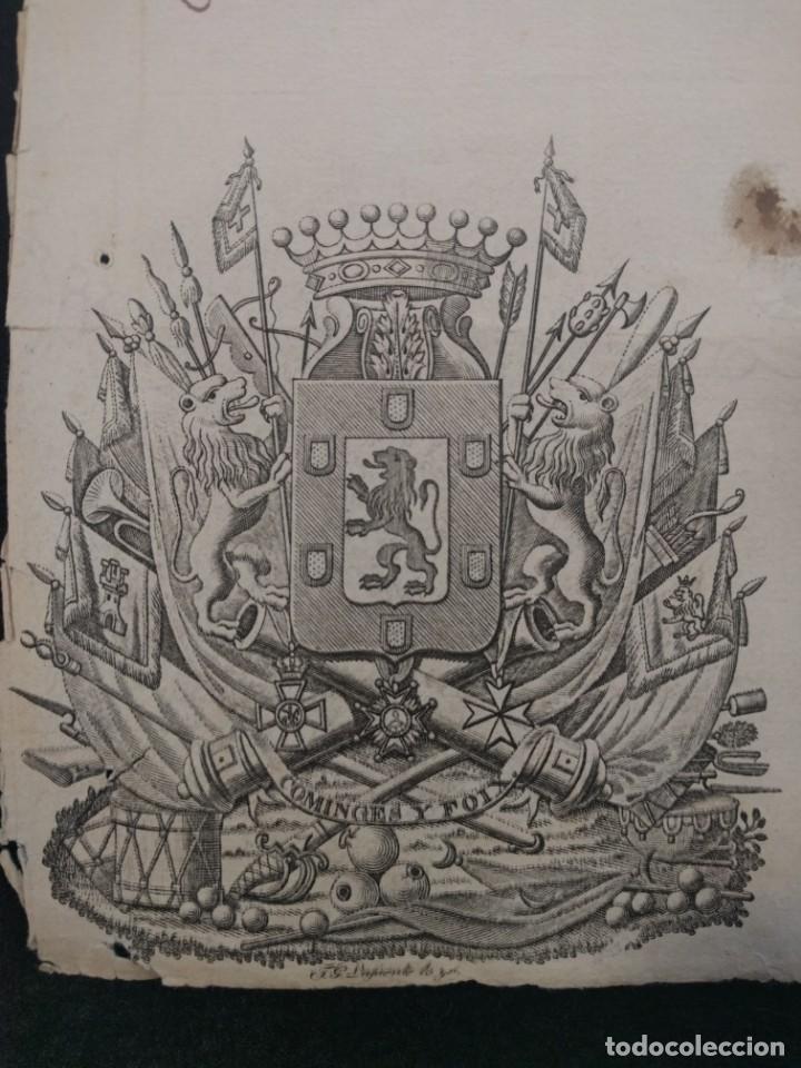 Militaria: Enrique de España de Couserans. Licencia de caza. 1854. Santiago de Cuba. Cinegética 1854 - Foto 2 - 144741006