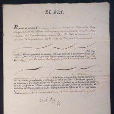 Militaria: NOMBRAMIENTO DE TENIENTE DE FRAGATA. FIRMA DE FERNANDO VII. 1816.. Lote 144741334