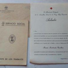Militaria: LOTE SERVICIO SOCIAL DE FALANGE.FALANGISTA.FRANCO.SECCION FEMENINA.MILITAR.POST GUERRA CIVIL.CARTILL. Lote 144930593