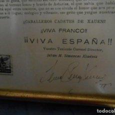 Militaria: ALOCUCION GUERRA CIVIL ACADEMIA MILITAR DE XAUEN AÑO 1937. Lote 144974106