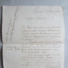 Militaria: 1813-FIRMA ORIGINAL GENERAL HONORÉ GAZAN.GUERRA INDEPENDENCIA.BATALLA-ALBUERA-VITORIA.SITIO ZARAGOZA. Lote 144999774