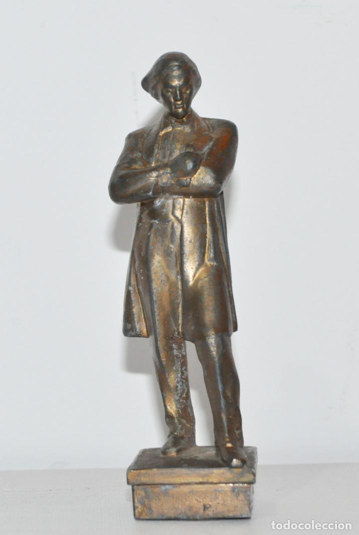 FIGURA NIKOLÁI CHERNYSHEVSKI.MADE IN URSS.METAL (Militar - Propaganda y Documentos)