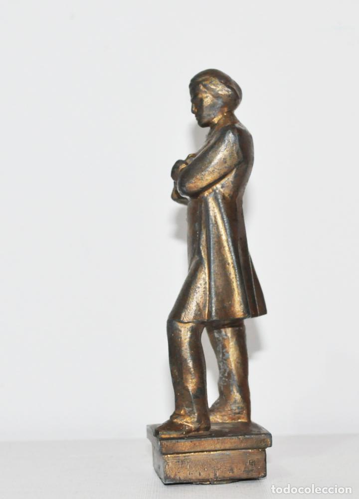 Militaria: Figura Nikolái Chernyshevski.Made in URSS.Metal - Foto 3 - 145267422