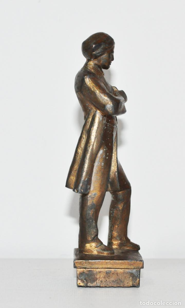 Militaria: Figura Nikolái Chernyshevski.Made in URSS.Metal - Foto 5 - 145267422