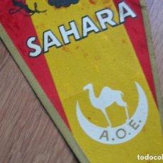 Militaria: MUY RARO Y GRAN BANDERIN SAHARA ESPAÑOL. IFNI. AFRICA OCCIDENTAL ESPAÑOLA. A.O.E. ORIGINAL 100%.. Lote 145291410