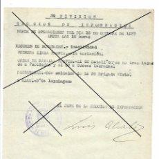 Militaria: DOCUMENTO ORIGINAL EJERCITO REPUBLICA PARTE DE BATALLA,DESERTORES OCTUBRE 1937 TERUEL 39 DIVISION. Lote 145705346