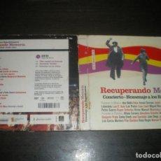 Militaria: CD RECUPERANDO MEMORIA, HOMENAJE A LOS REPUBLICANOS. Lote 145888726