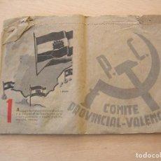 Militaria: FALDILLA DE CALENDARIO O ALMANAQUE, GUERRA CIVIL, TRECE PUNTOS DE NEGRIN, PARTIDO COMUNISTA, COMITE . Lote 146186906