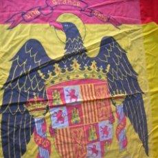 Militaria: IMPRESIONANTE BANDERA DE BUQUE DE GUERRA O ACUARTELAMIENTO. AGUILA DE SAN JUAN. ORIGINAL 100%.. Lote 146187602