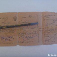 Militaria: AUTORIZACION DE VIAJE DE SOLDADO DE ARTILLERIA, DE SEVILLA A ARAHAL. 1961. Lote 146290966