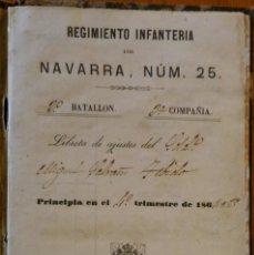 Militaria: ANTIGUA CARTILLA MILITAR DE UN SOLDADO DE ESPLUGA DE FRANCOLÍ (TARRAGONA). 1864-1869. Lote 146787734