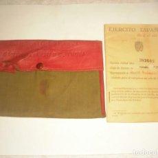 Militaria: CARTILLA MILITAR DE TROPA , EJERCITO ESPAÑOL 1945 Y LA FUNDA PARA GUARDARLO.. Lote 147045478