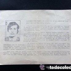 Militaria: OCTAVILLA PIDIENDO LA LIBERTAD DEL ANARQUISTA EJECUTADO EN 1974. SALVADOR PUIG ANTICH.BARCELONA 1973. Lote 147105210