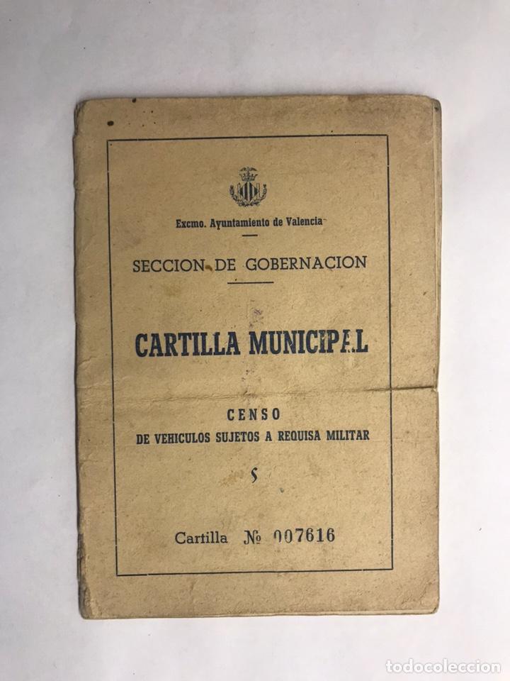 MILITAR. VALENCIA, CENSO DE VEHÍCULOS SUJETOS A REQUISA MILITAR (A.1956) (Militar - Propaganda y Documentos)