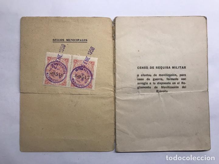 Militaria: MILITAR. Valencia, Censo de Vehículos sujetos a Requisa Militar (a.1956) - Foto 2 - 147398169