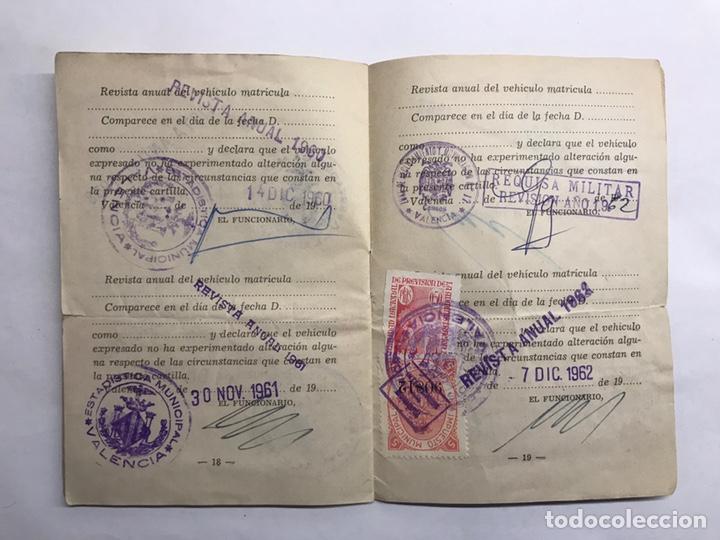 Militaria: MILITAR. Valencia, Censo de Vehículos sujetos a Requisa Militar (a.1956) - Foto 3 - 147398169