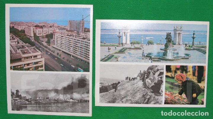 Militaria: Juego de 15 postales sovieticas.Volgogrado Stalingrado-ciutad geroe .Moscu 1979 a - Foto 2 - 147714094