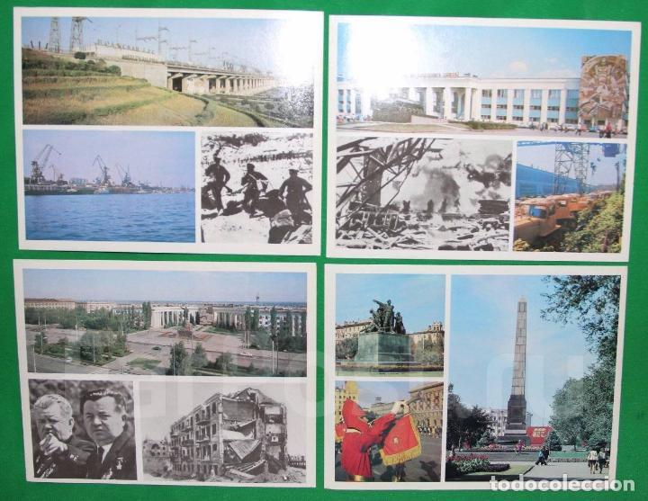 Militaria: Juego de 15 postales sovieticas.Volgogrado Stalingrado-ciutad geroe .Moscu 1979 a - Foto 3 - 147714094