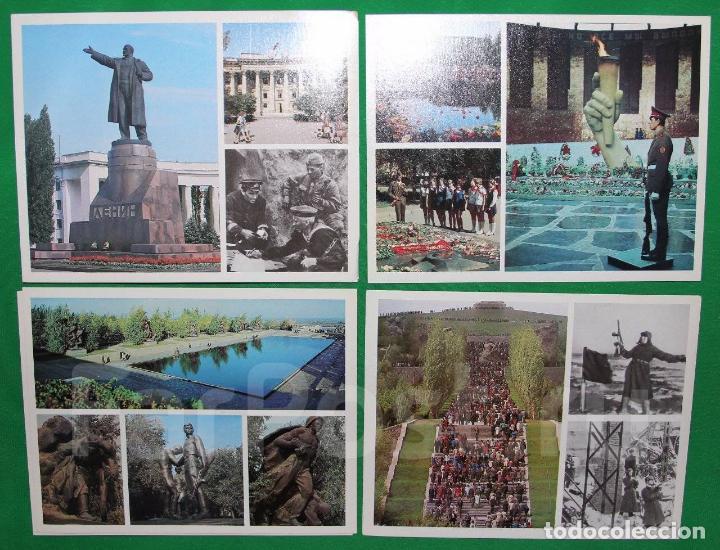 Militaria: Juego de 15 postales sovieticas.Volgogrado Stalingrado-ciutad geroe .Moscu 1979 a - Foto 4 - 147714094