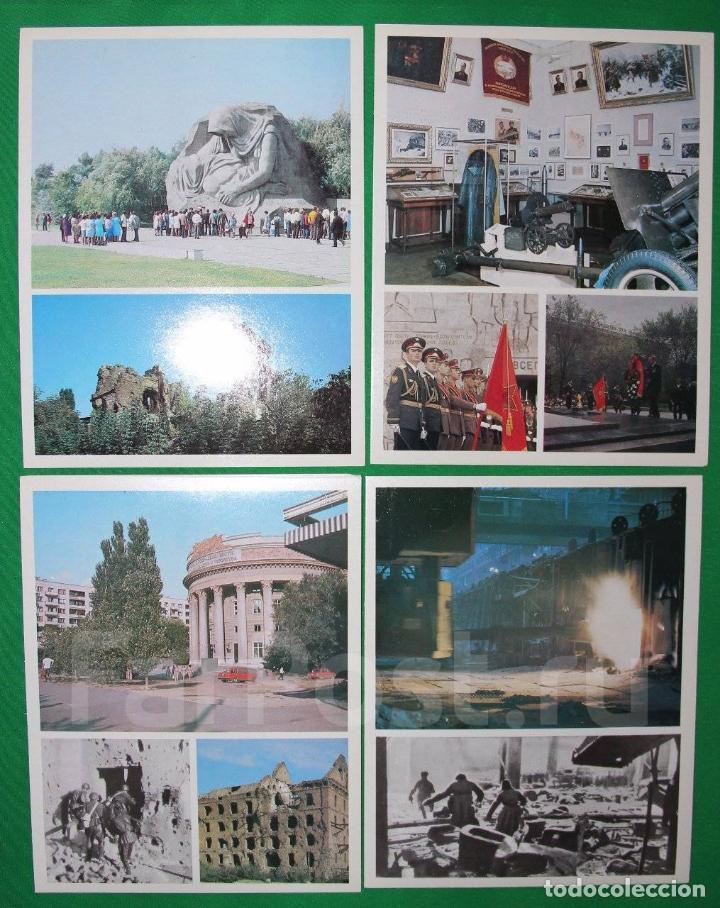 Militaria: Juego de 15 postales sovieticas.Volgogrado Stalingrado-ciutad geroe .Moscu 1979 a - Foto 5 - 147714094