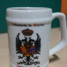 Militaria: JARRA DE CERÁMICA INFANTERÍA DE MARINA, TERCIO DE ARMADA. CERAMICA CARTAGENA. Lote 147760942