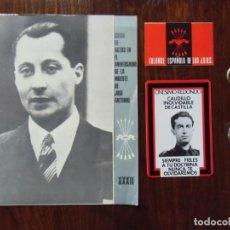 Militaria: JOSE ANTONIO/F.E.T. Y DE LAS J.O.N.S./LOTE AÑOS 60-70.. Lote 147887858