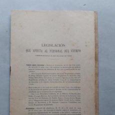 Militaria: LEGISLACIÓN QUE AFECTA AL PERSONAL DEL CUERPO. SECCIÓN DE ARTILLERIA. AÑO 1924.. Lote 147900174