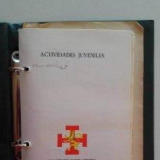 Militaria: OJE, ACTIVIDADES JUVENILES DE LA ORGANIZACIÓN JUVENIL ESPAÑOLA 1976. SALIDA 1 CÉNTIMO. VAL. 50 €. Lote 147926658