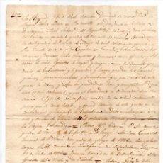 Militaria: COPIA LEGALIZADA DE UN NOMBRAMIENTO DE TENIENTE PARA JOAQUÍN ANEL EN 1836, LOGROÑO. 1 PÁGINA.. Lote 148215034