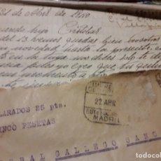 Militaria: GUERRA CIVIL CARTA MILITANTE SELLO UGT PRISIONERO DE GUERRA BATALLON DE TRABAJADORES VILLAFRIA. Lote 148236733