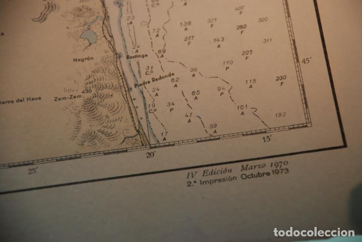 Militaria: INTERESANTE MAPA, PLANO O CARTA NÁUTICA DEL ESTRECHO DE GIBRALTAR - CON MARCAS Y ANOTACIONES - 1958 - Foto 4 - 148516798