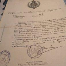 Militaria: EL CORONEL DEL REGIMIENTO DE INFANTERIA VIZCAYA NUM. 51... 5º DIVISIÓN, 1919. Lote 148862008