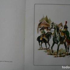 Militaria: UNIDAD MILITAR DE CABALLERIA: REGIMIENTO DRAGONES DE VILLAVICIOSA 1808 - LAMINA SANFELIZ. Lote 148946390