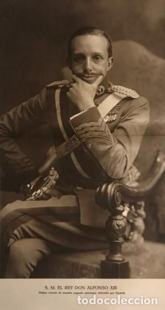 RETRATO S. M. EL REY DON ALFONSO XIII 56,5X36,5 CM (Militar - Propaganda y Documentos)