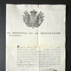 Militaria: AÑO 1842. MILICIA NACIONAL. CONCESIÓN DE DISTINTIVO POR EL PRONUNCIAMIENTO DE SEPTIEMBRE DE 1840. . Lote 149405770