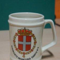 Militaria: JARRA MILITAR DE CERÁMICA REGIMIENTO DE INFANTERÍA SABOYA Nº6. Lote 149436230