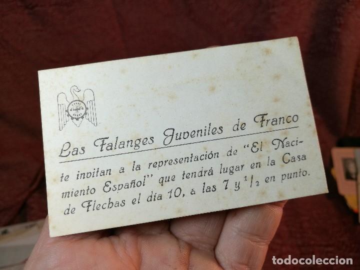 Tarjeta De Visita E Invitacion Evento De Las Falanges Juveniles De Franco Tarragona Leer