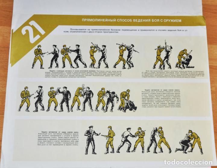 Militaria: Juego de 24 carteles sovieticas.Basico combate mano Moscu 1989 a.URSS - Foto 14 - 149505122