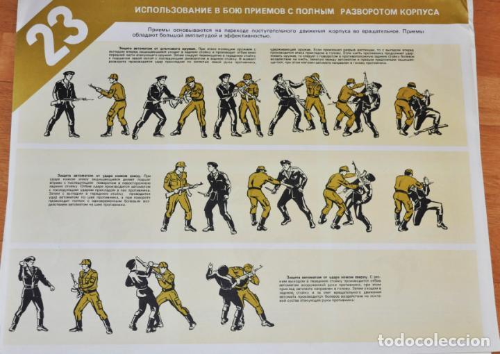 Militaria: Juego de 24 carteles sovieticas.Basico combate mano Moscu 1989 a.URSS - Foto 15 - 149505122