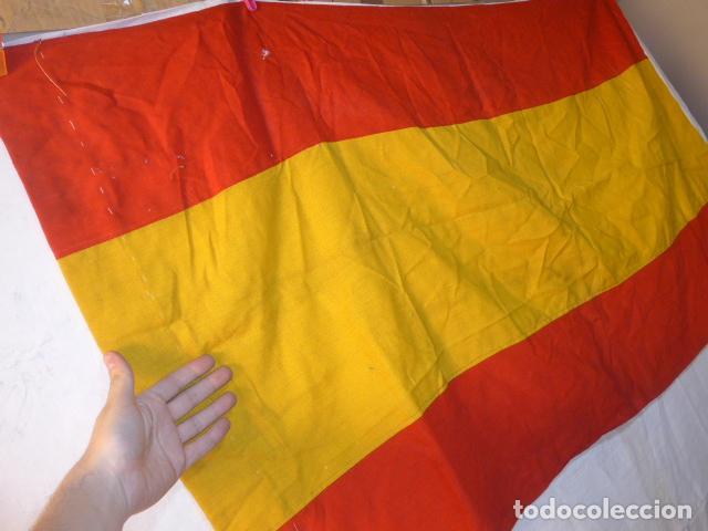 Militaria: Antigua gran bandera española de años 20, alfonsina, original, de antes de guerra civil. - Foto 2 - 150017154