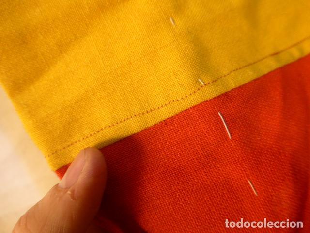 Militaria: Antigua gran bandera española de años 20, alfonsina, original, de antes de guerra civil. - Foto 4 - 150017154
