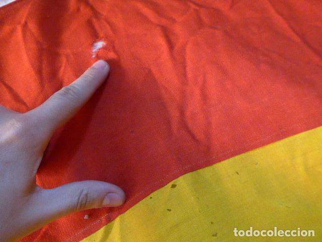 Militaria: Antigua gran bandera española de años 20, alfonsina, original, de antes de guerra civil. - Foto 6 - 150017154
