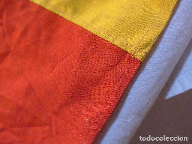 Militaria: Antigua gran bandera española de años 20, alfonsina, original, de antes de guerra civil. - Foto 8 - 150017154