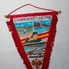 Militaria: BANDERÍN TELA PINTADA (CAMPAMENTO MILITAR ZARAGOZA - CIR Nº10) ÉPOCA FRANCO. Lote 150231834