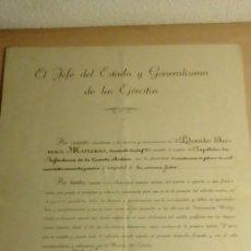 Militaria: NOMBRAMIENTO CAPITAN FIRMADO FRANCISCO FRANCO (ESTAMPILLADO). Lote 151278858