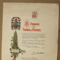 Militaria: GUERRA INDEPENDENCIA. TITULO MEDALLA DE PLATA PRIMER CENTENARIO SITIOS DE GERONA 1809-1909. Lote 151377409