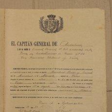 Militaria: CONCESION DE PERMISO A RECLUTA DE ZONA DE RECLUTAMIENTOS DE CADIZ. AÑO 1904. Lote 151379781