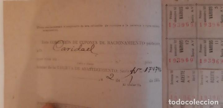 Militaria: Cartillas de racionamiento de la época de Franco - Foto 3 - 151630882