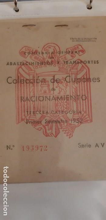 Militaria: Cartillas de racionamiento de la época de Franco - Foto 4 - 151630882