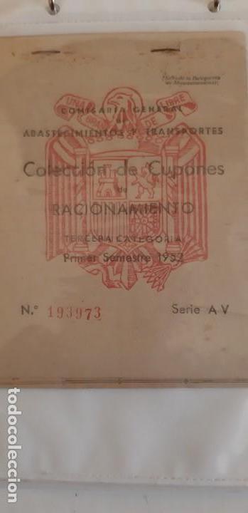 CARTILLAS DE RACIONAMIENTO DE LA ÉPOCA DE FRANCO (Militar - Propaganda y Documentos)